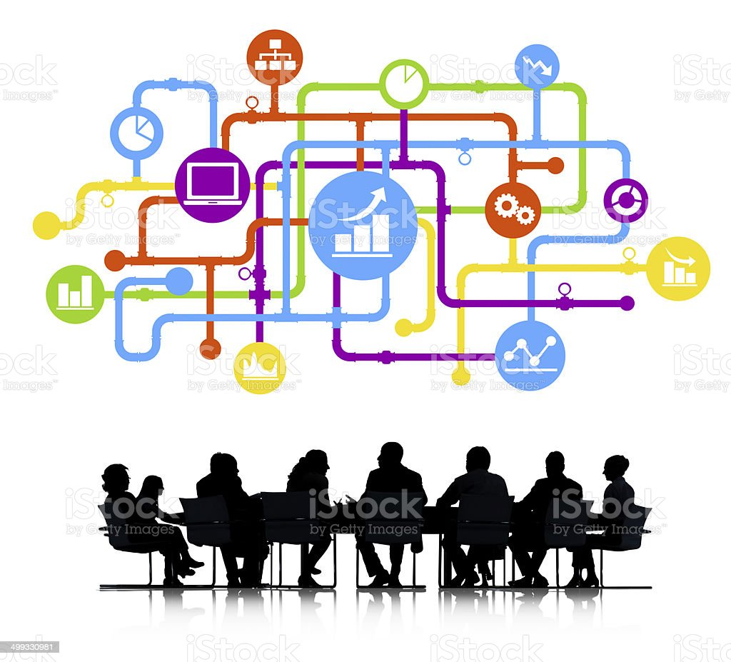 Business Analyst Group royalty-free stock vector art