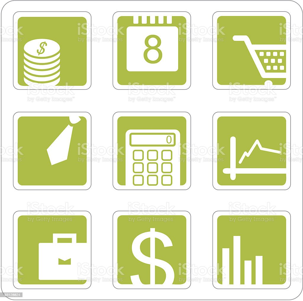 Business and finance icons set royalty-free business and finance icons set stock vector art & more images of bag