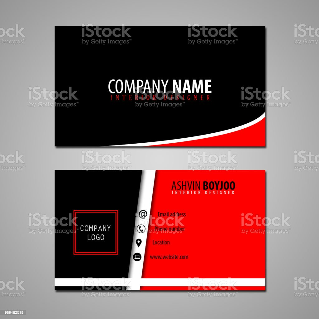 Business Card Interior Design Stock Vector Art More Images Of