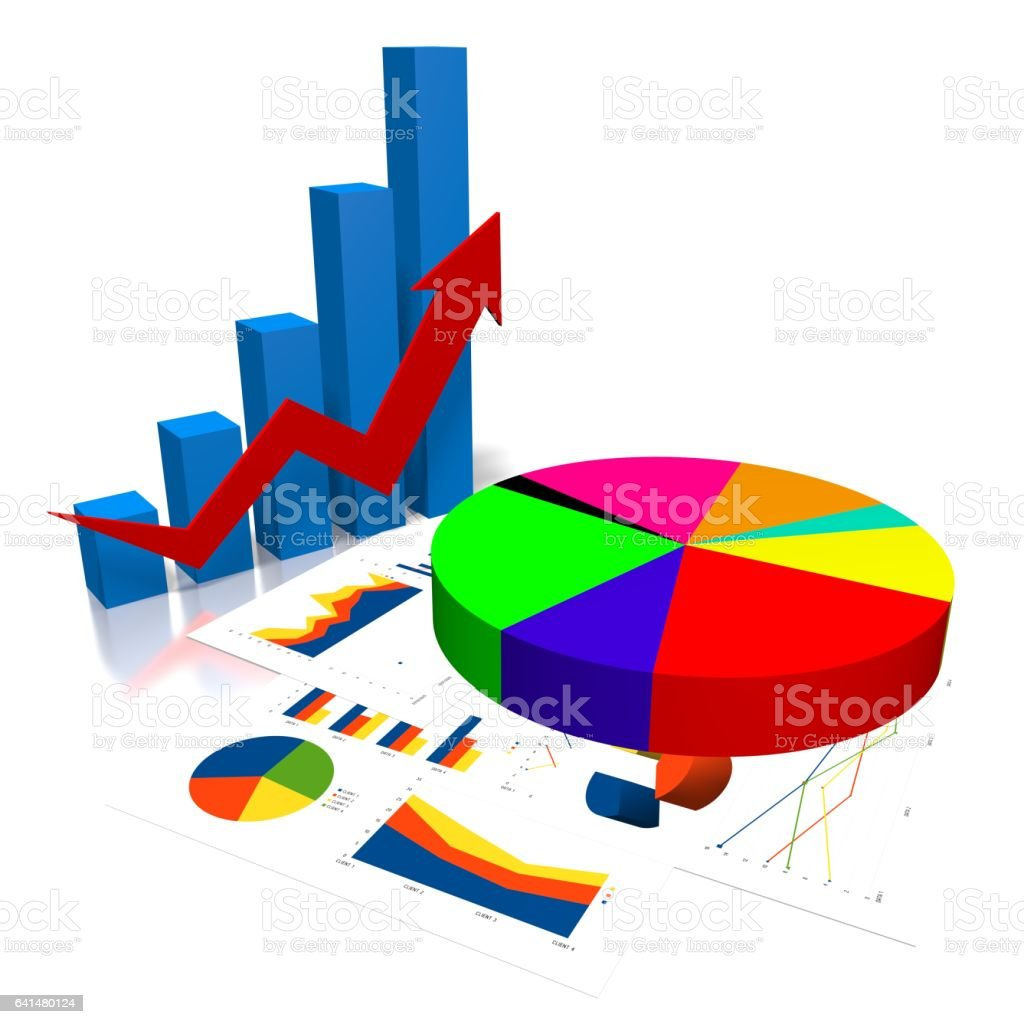 3d business chart stock vector art more images of accountancy