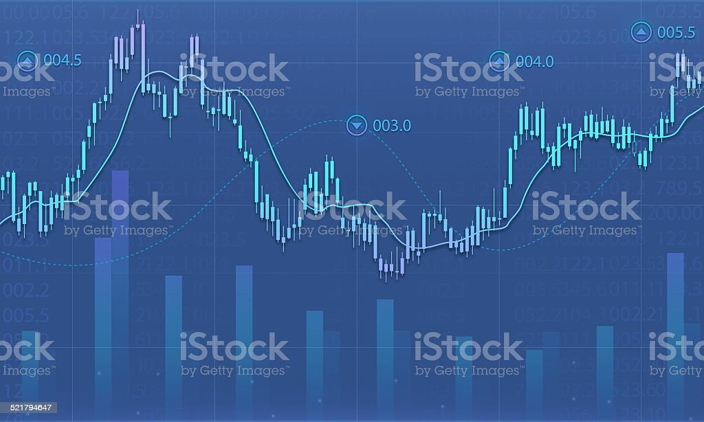 Business financial graph report background vector art illustration