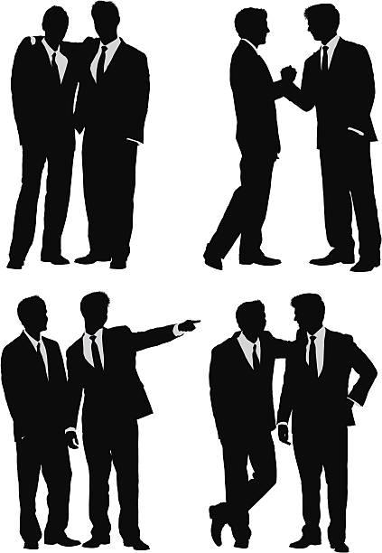 ilustrações, clipart, desenhos animados e ícones de negócios silhuetas de amigos - casais do mesmo sexo
