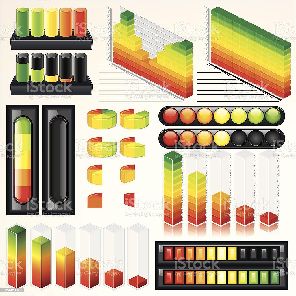 Business-Grafik und Diagramme – Vektorgrafik