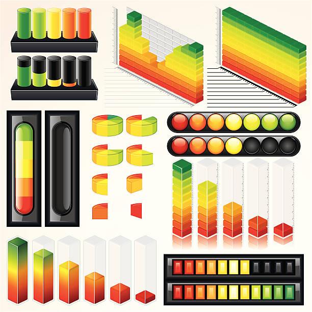ilustrações, clipart, desenhos animados e ícones de negócios gráficos e diagramas - pilha arranjo