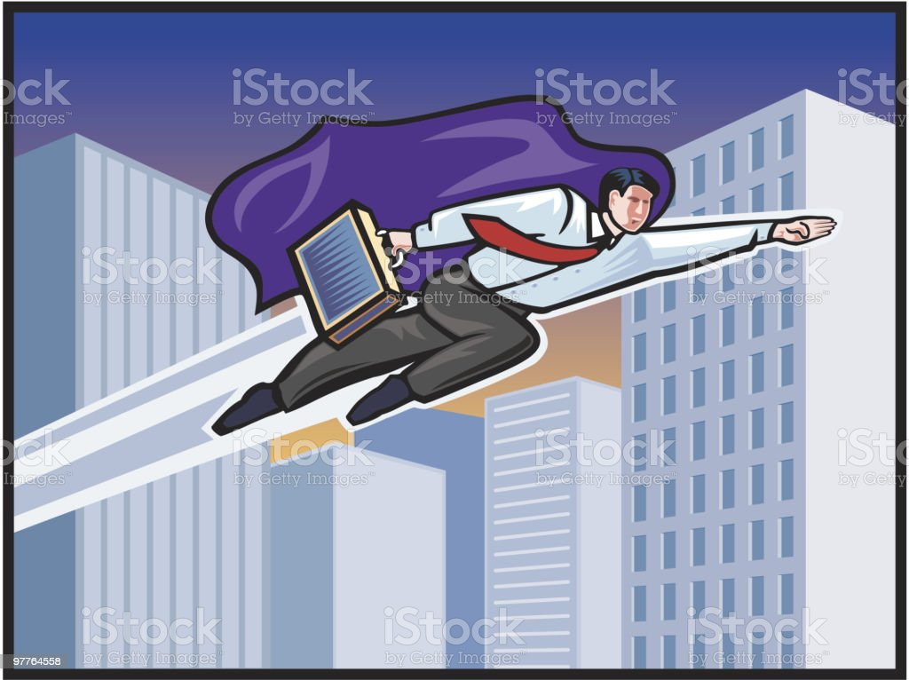 Business Hero royalty-free stock vector art