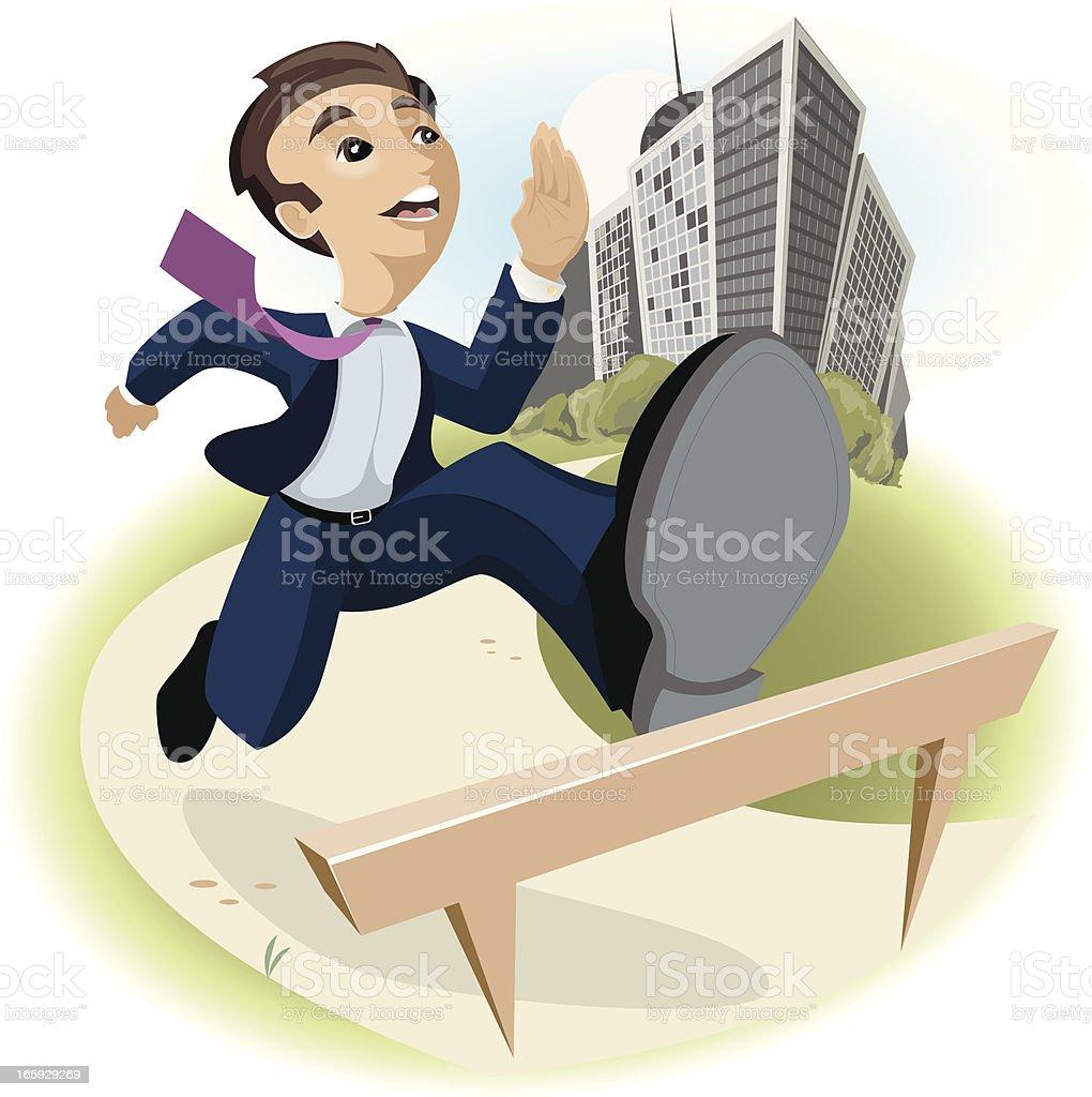Business Hurdles vector art illustration