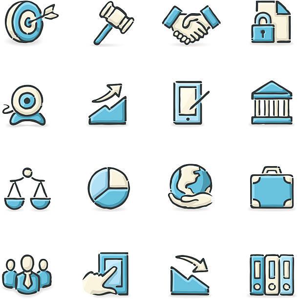 Icônes d'affaires - Illustration vectorielle