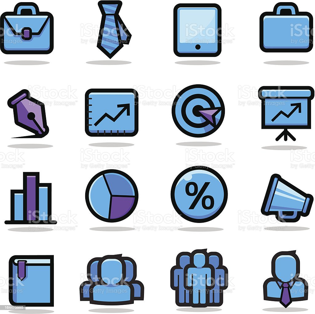 Business Icons Set royalty-free business icons set stock vector art & more images of aspirations