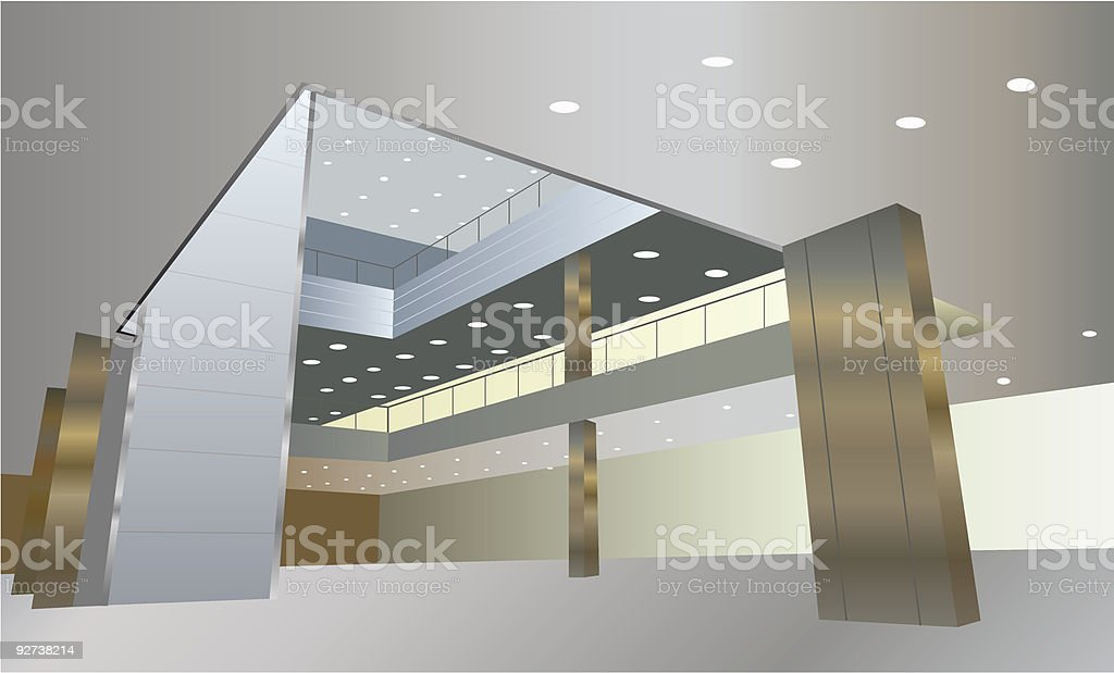 business interior royalty-free stock vector art