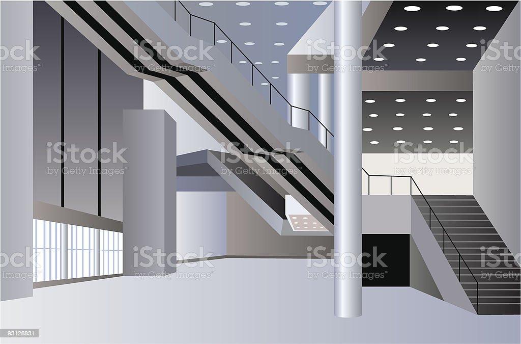business interior vector art illustration