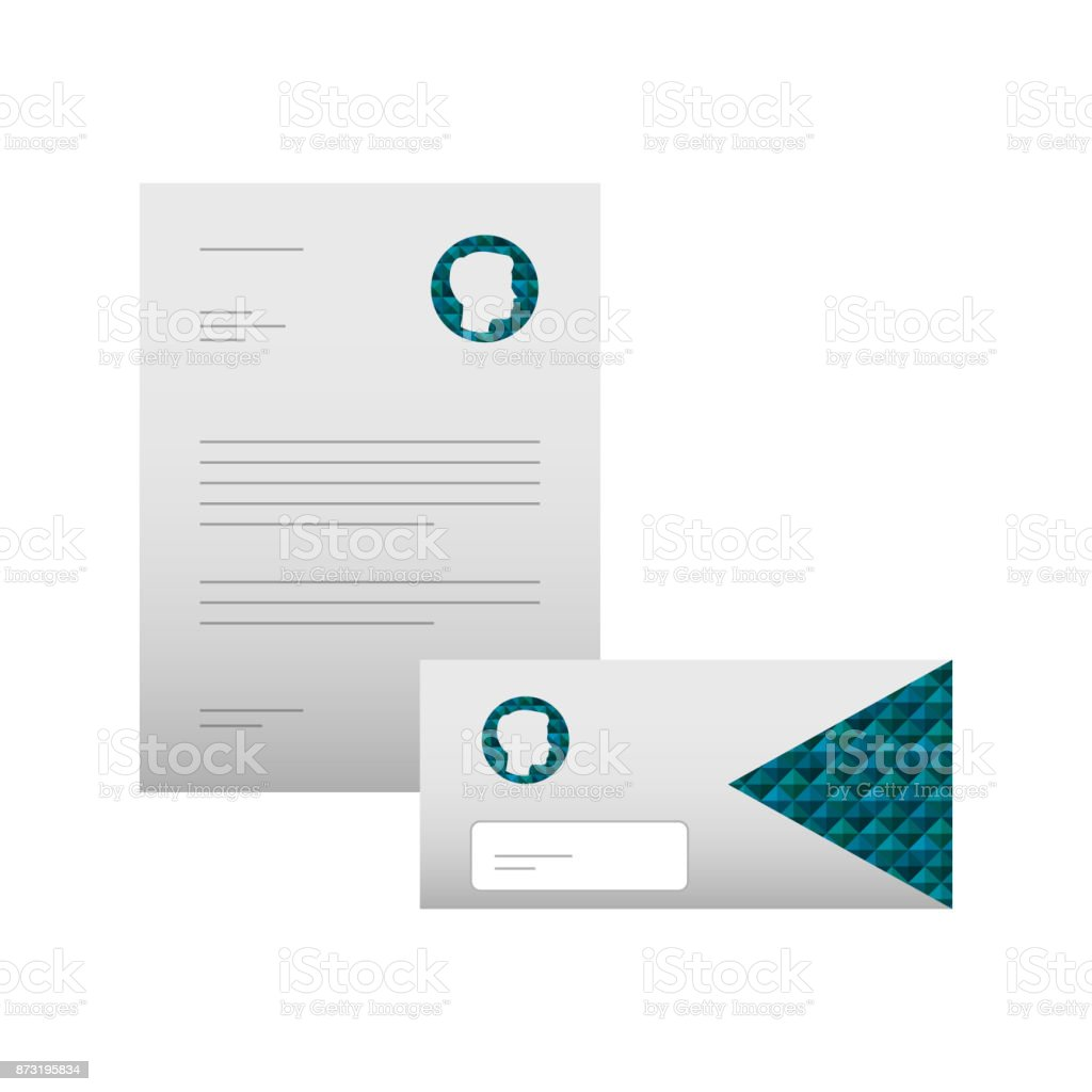 business letterhead envelope stationary branding template for