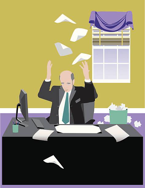bildbanksillustrationer, clip art samt tecknat material och ikoner med business man giving up - 50 59 år