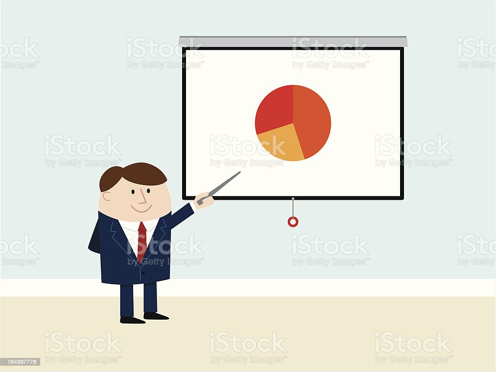 Business Man Presents Good Results royalty-free stock vector art