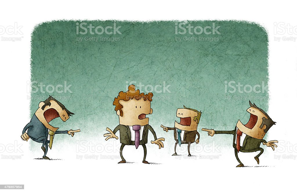 business mobbing vector art illustration