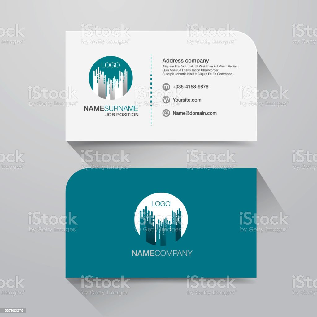business name card 1 vector art illustration