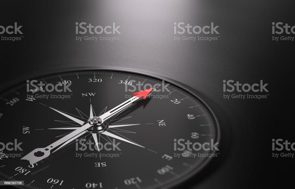 Business Orientation Background, Compass on the Left - ilustração de arte em vetor