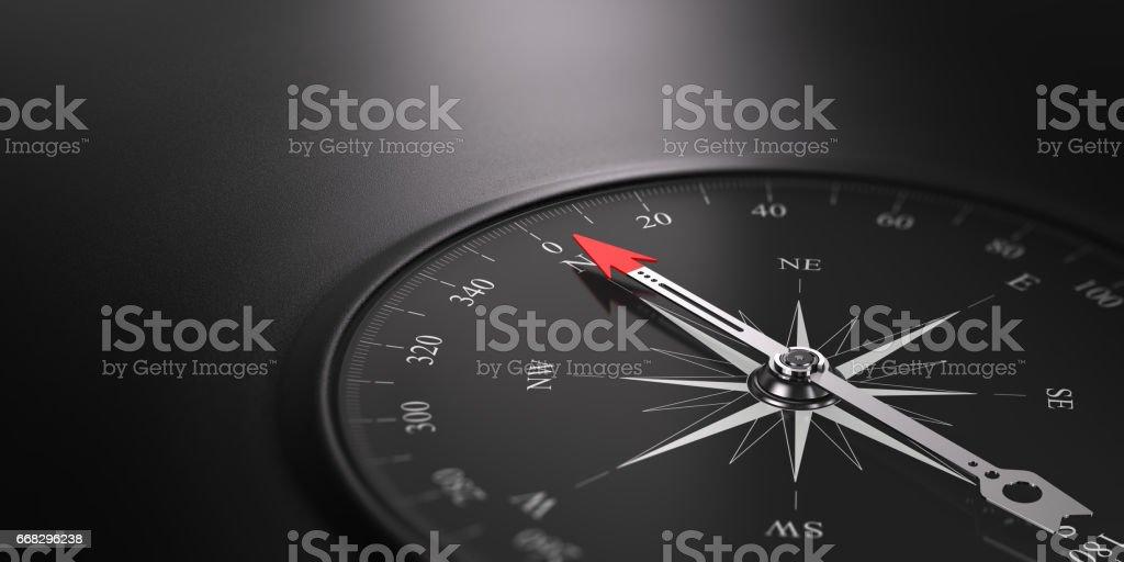 Business Orientation Background, Compass on the Right - ilustração de arte em vetor