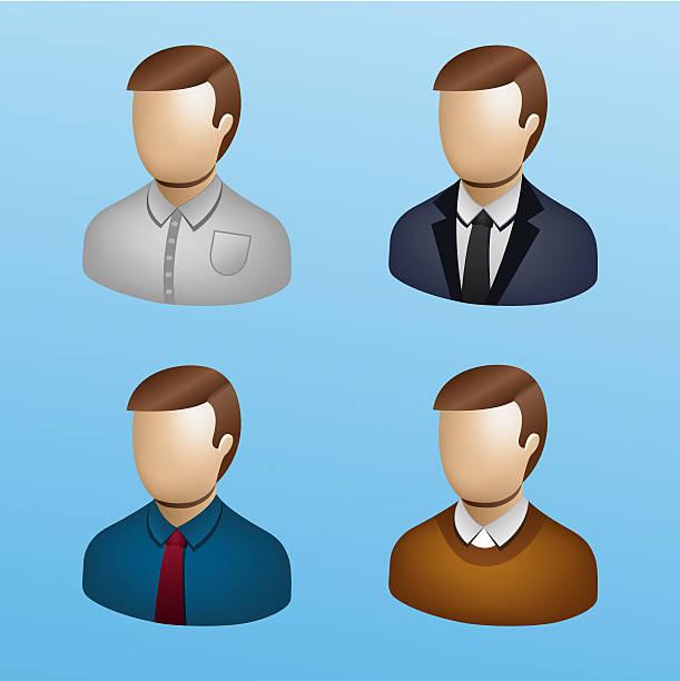 ilustraciones, imágenes clip art, dibujos animados e iconos de stock de la gente de negocios 3d icono set-negocios - gerente de cuentas