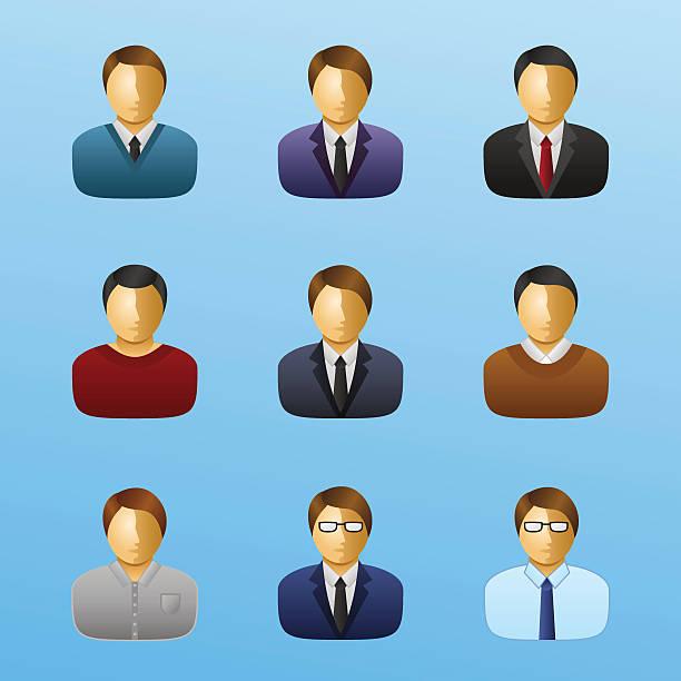 ilustraciones, imágenes clip art, dibujos animados e iconos de stock de business people icon set-negocios - gerente de cuentas