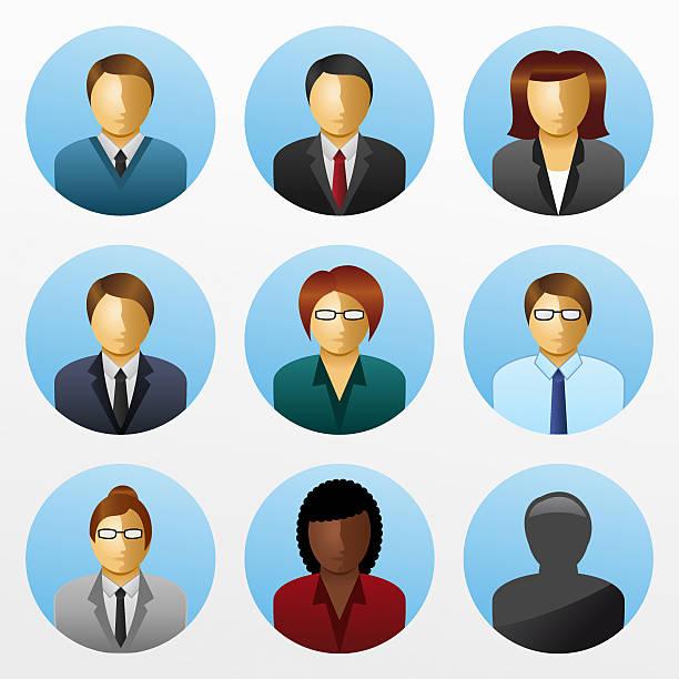 ilustraciones, imágenes clip art, dibujos animados e iconos de stock de icono de gente de negocios, los empresarios - gerente de cuentas