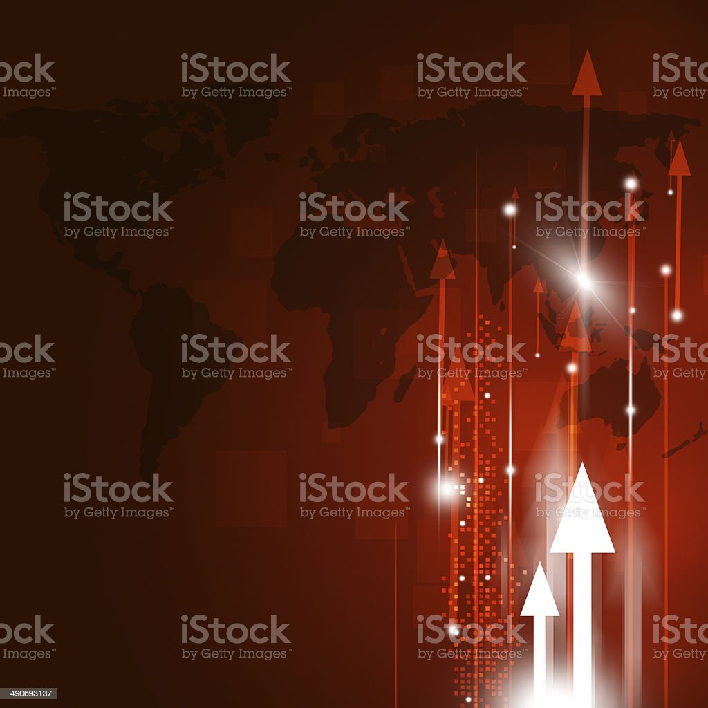Business Red Background royalty-free stock vector art