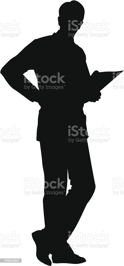 Business Silhouette royalty-free business silhouette stock vector art & more images of analyzing
