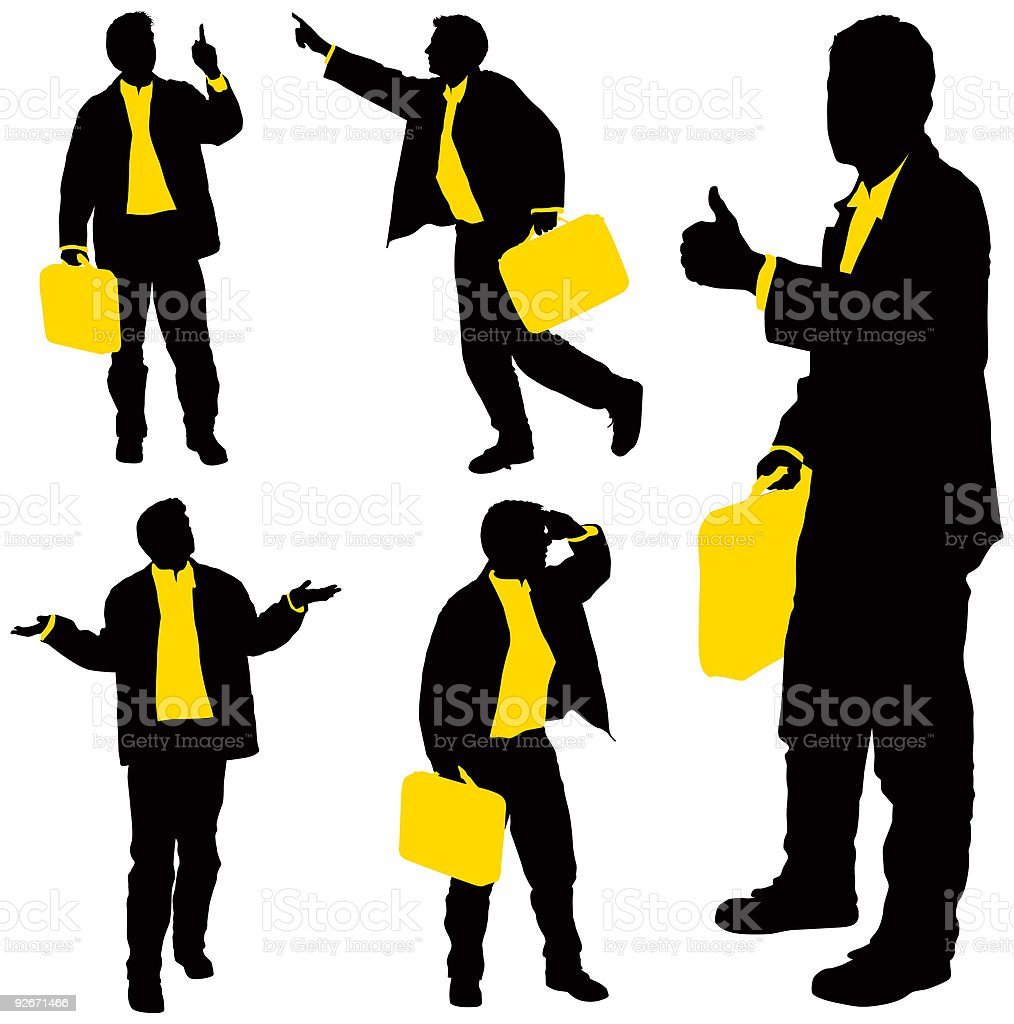 Business Silhouettes 5 royalty-free business silhouettes 5 stock vector art & more images of adult