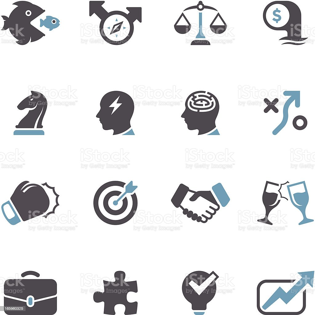 Pricing Strategy Icon: Business Strategy Icon Set Concise Series Stock Vector Art