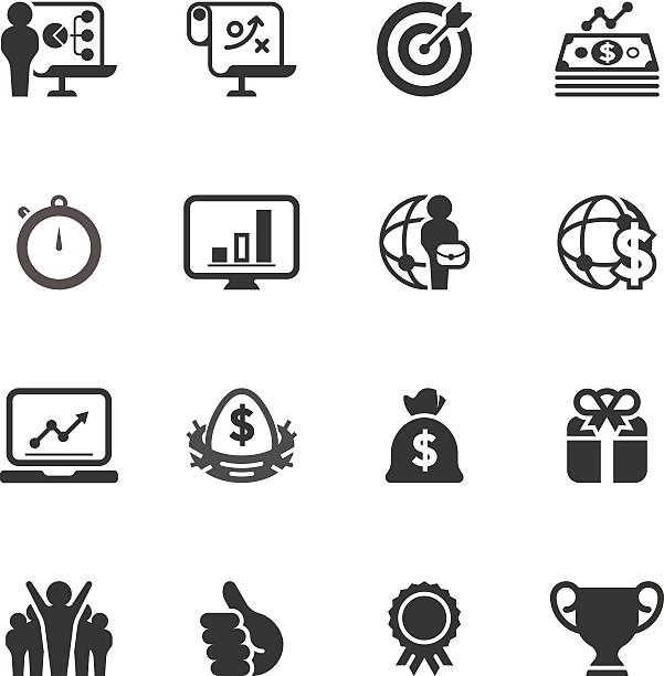 Business & Success Icon Set | Unique Series Unique business & success related icon can beautify your designs & graphic nest egg stock illustrations