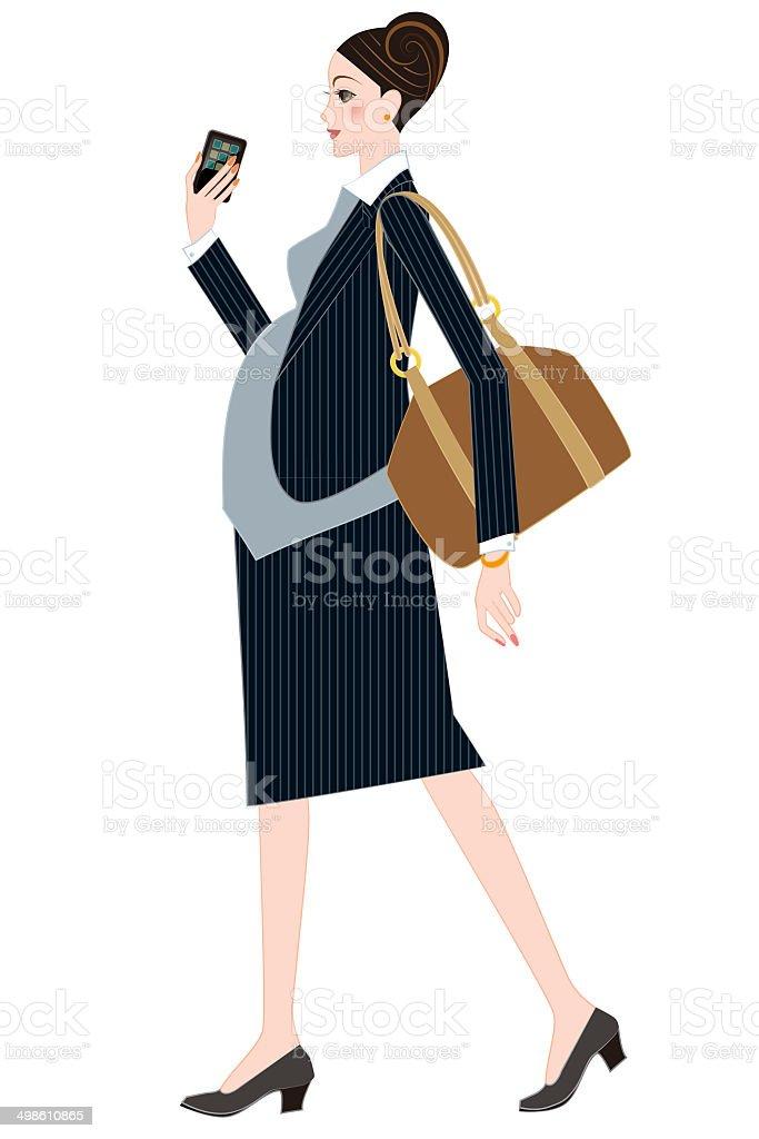 Femme d'affaires vous êtes enceinte - Illustration vectorielle