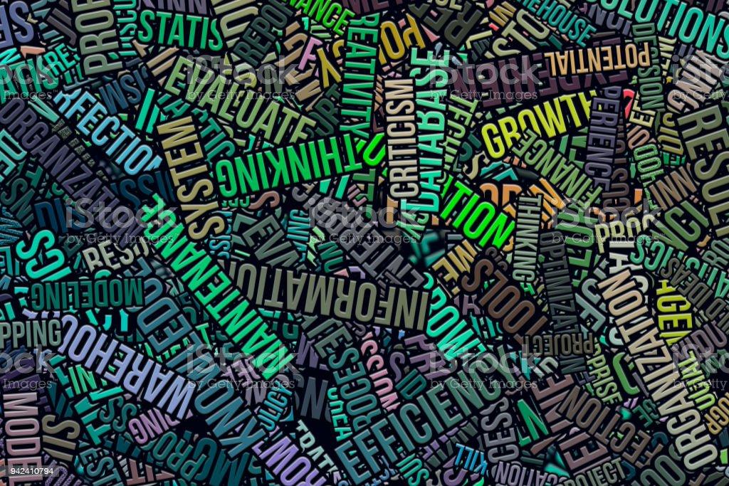Business Words Cloud Wallpaper Or Texture Background Digital