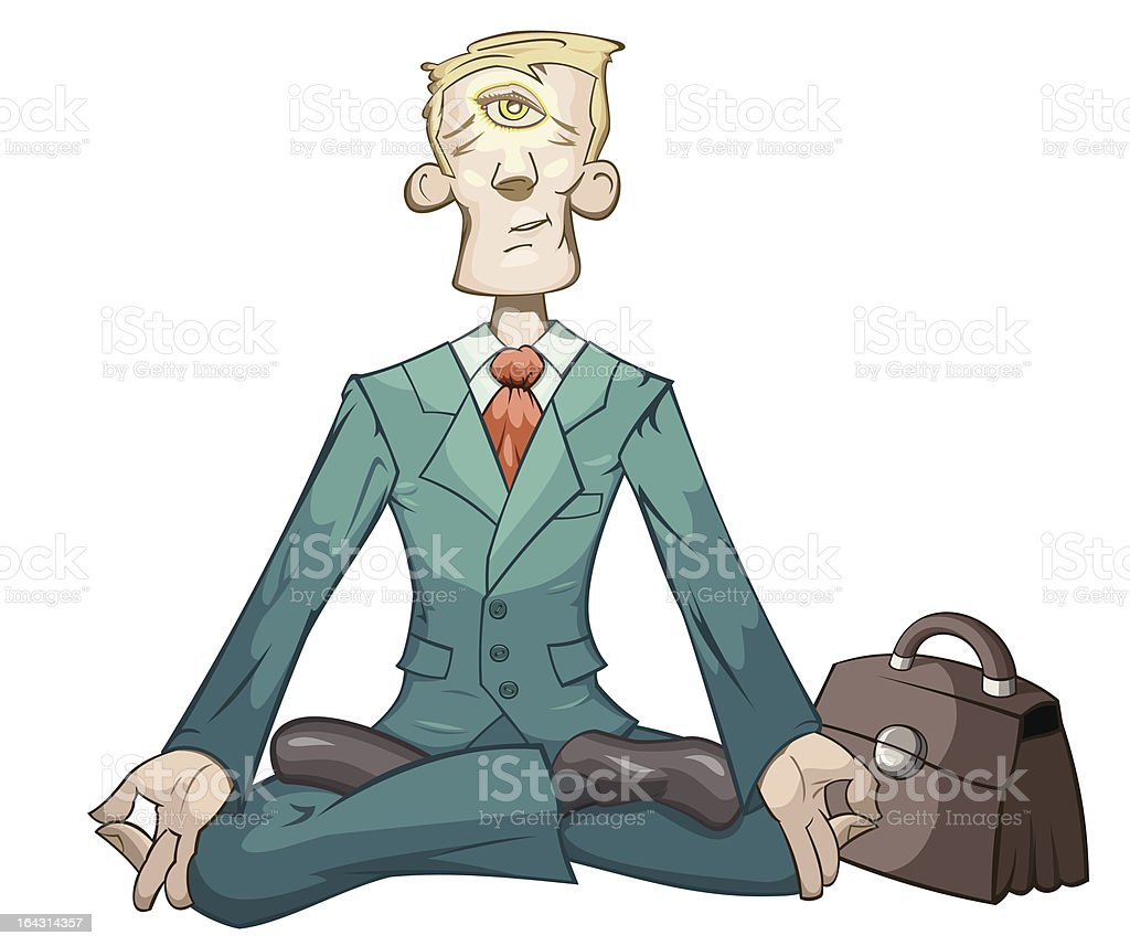 Business yoga royalty-free stock vector art