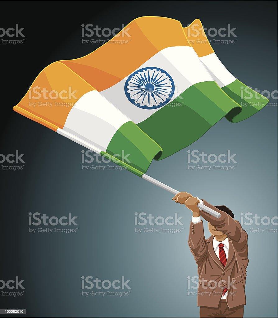 Businessman Flag India royalty-free stock vector art