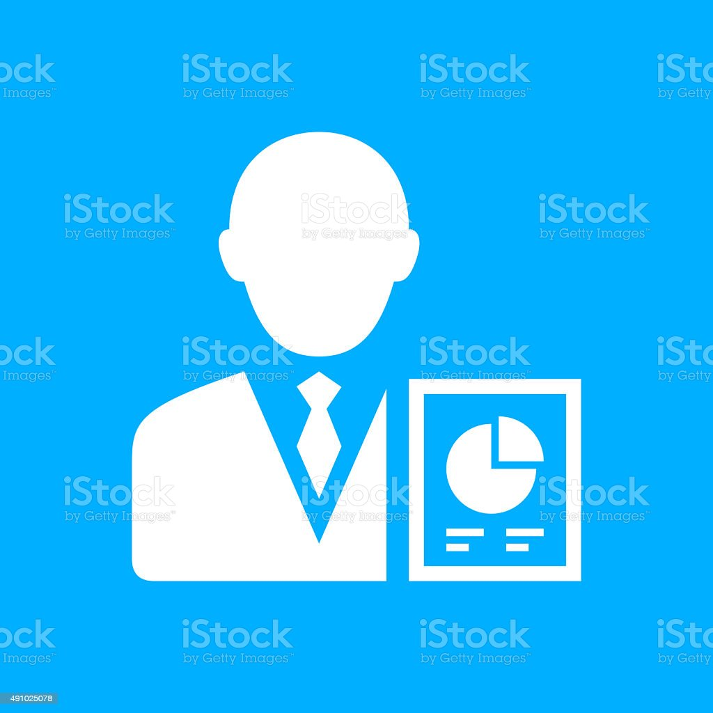 Businessman icon on a blue background. - SmoothSeries royalty-free businessman icon on a blue background smoothseries stock vector art & more images of 2015