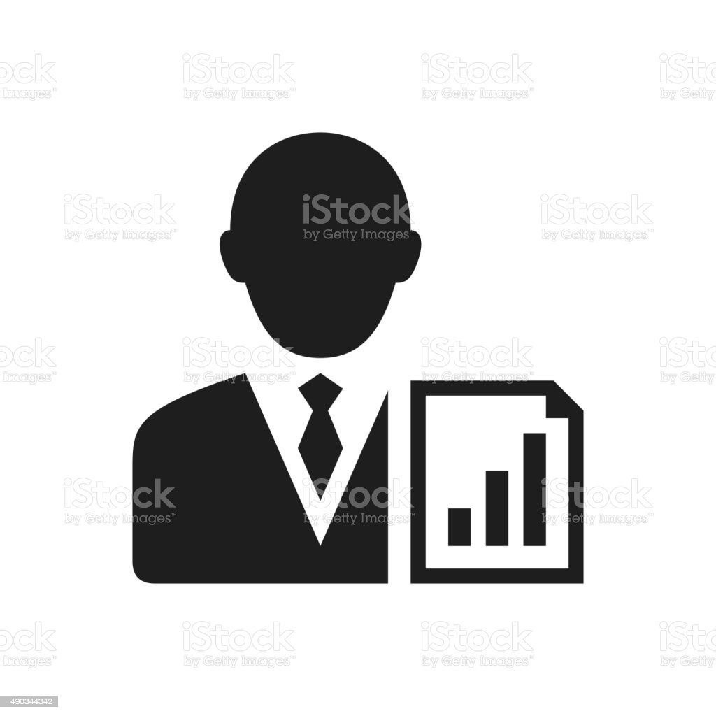 Businessman icon on a white background. - SingleSeries vector art illustration