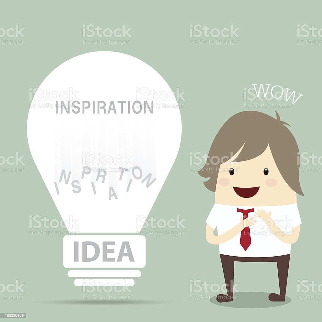 businessman is happy to found popular light bulb vintage get royalty-free businessman is happy to found popular light bulb vintage get stock vector art & more images of backgrounds