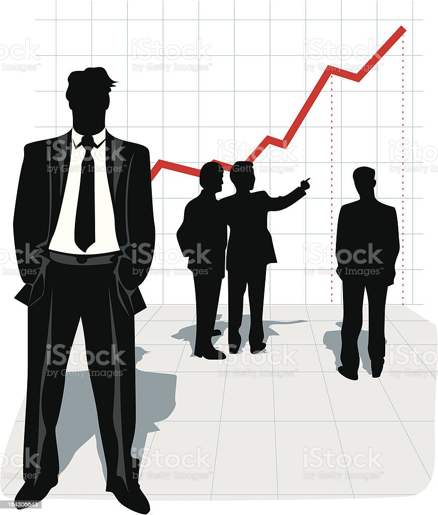 Businessman silhouette royalty-free stock vector art
