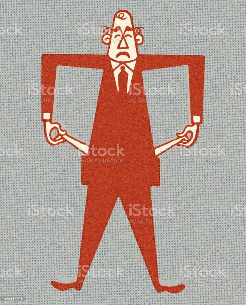 Businessman with Empty Pockets royalty-free businessman with empty pockets stock vector art & more images of adult