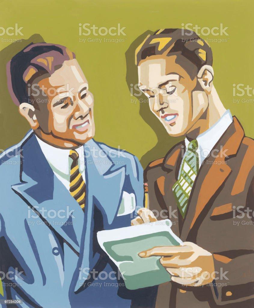 Businessmen deciding royalty-free businessmen deciding stock vector art & more images of adult
