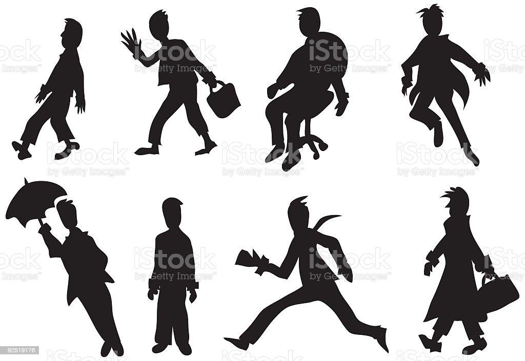 Businessmen vector art illustration