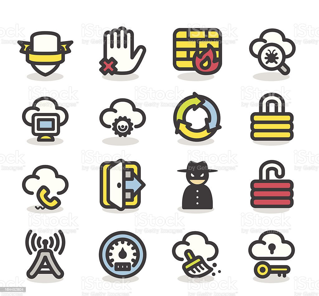 Business,Network icon set royalty-free stock vector art