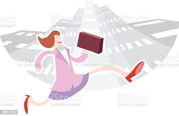 Businesswoman In The City-vektorgrafik och fler bilder på Affärskvinna