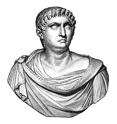 Bust of Nero, roman emperor