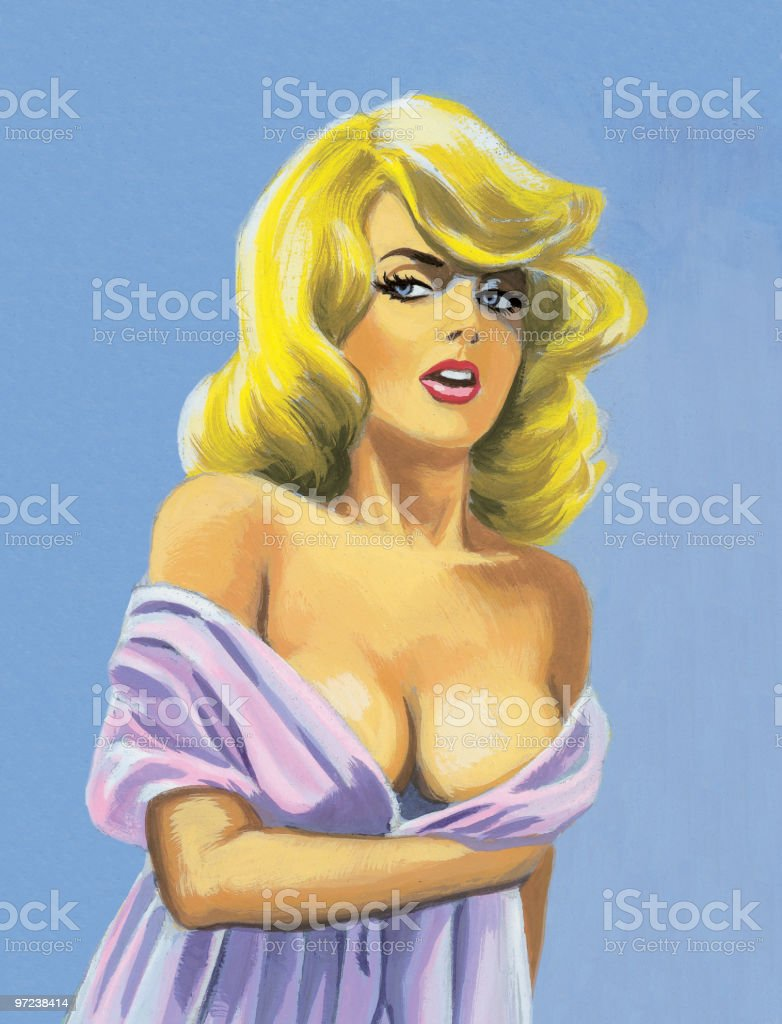 busty blonde woman stock vector art & more images of 30-39 years