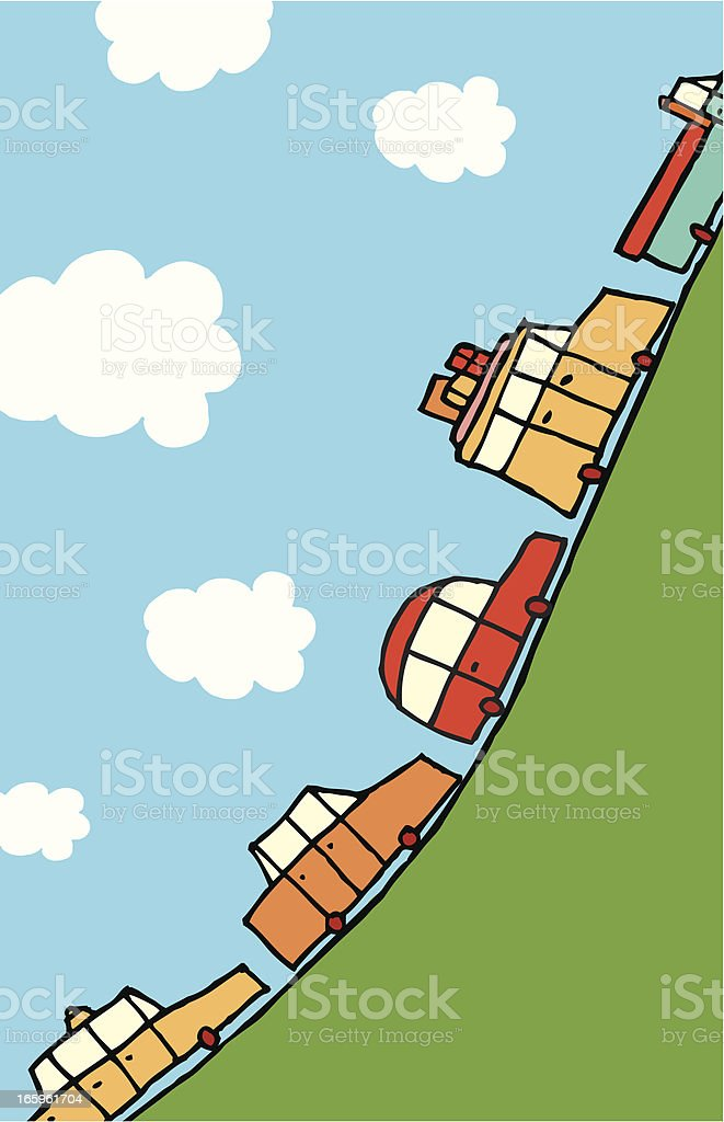 Busy road to the top royalty-free stock vector art