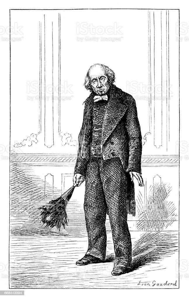 Butler vector art illustration