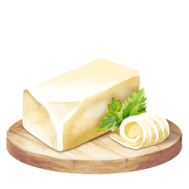 ilustrações de stock, clip art, desenhos animados e ícones de butter on a platter - manteiga