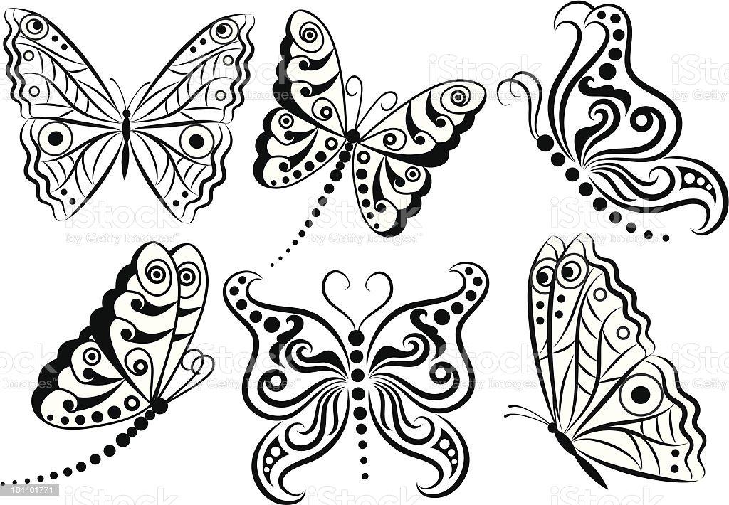 Butterflies. royalty-free stock vector art