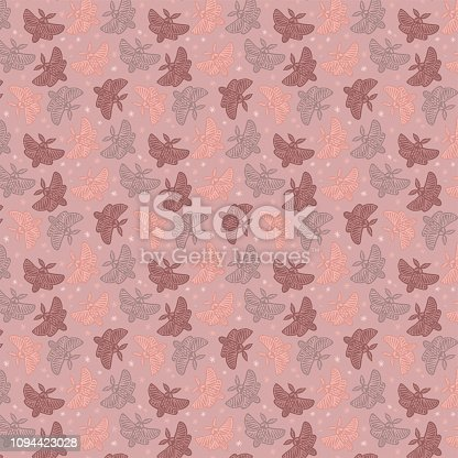 istock Butterflies surface pattern with paper texture 1094423028