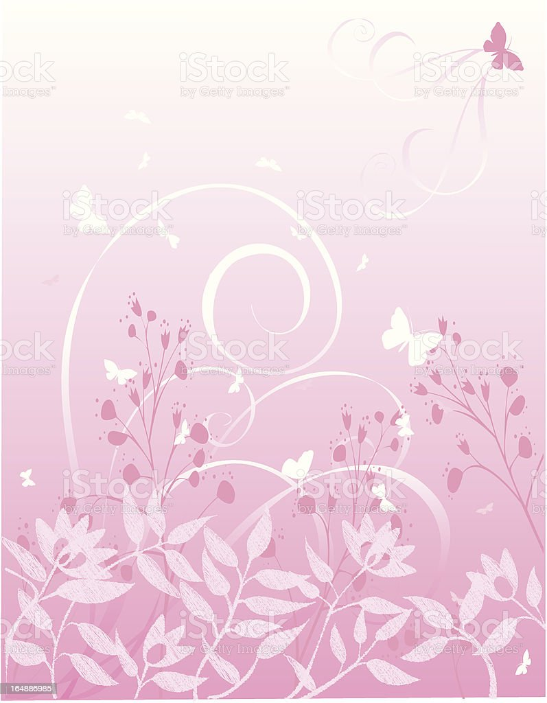 butterfly floral royalty-free stock vector art